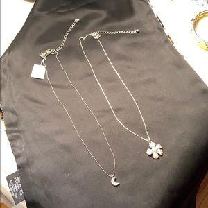 3for$15Lia Sophia silver tone necklaces
